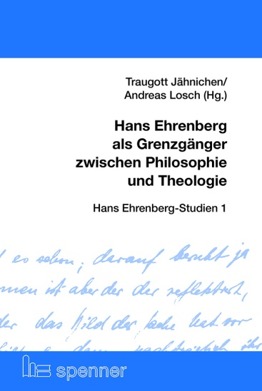 Cover Hans Ehrenberg als Grenzgänger zwischen Philosophie und Theologie